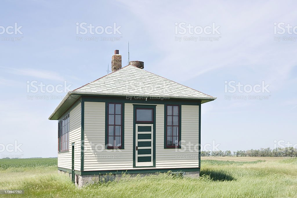 well maintained one-room rural school royalty-free stock photo