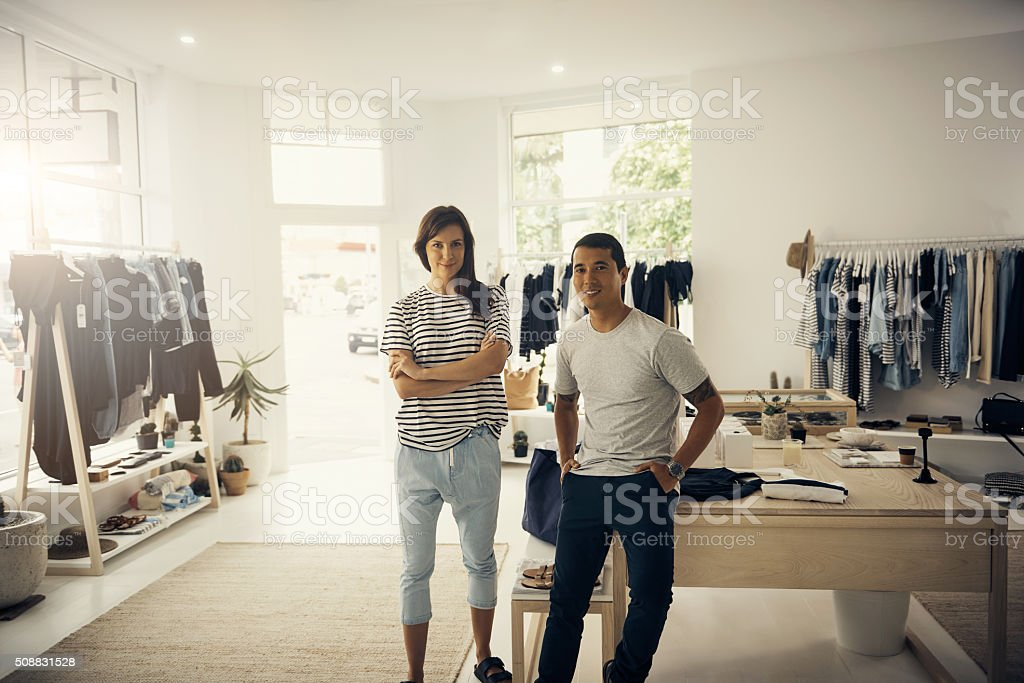 We'll make your fashion dreams come true stock photo