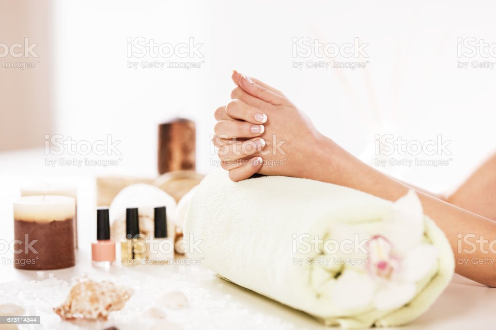 Well manicured Nails stock photo