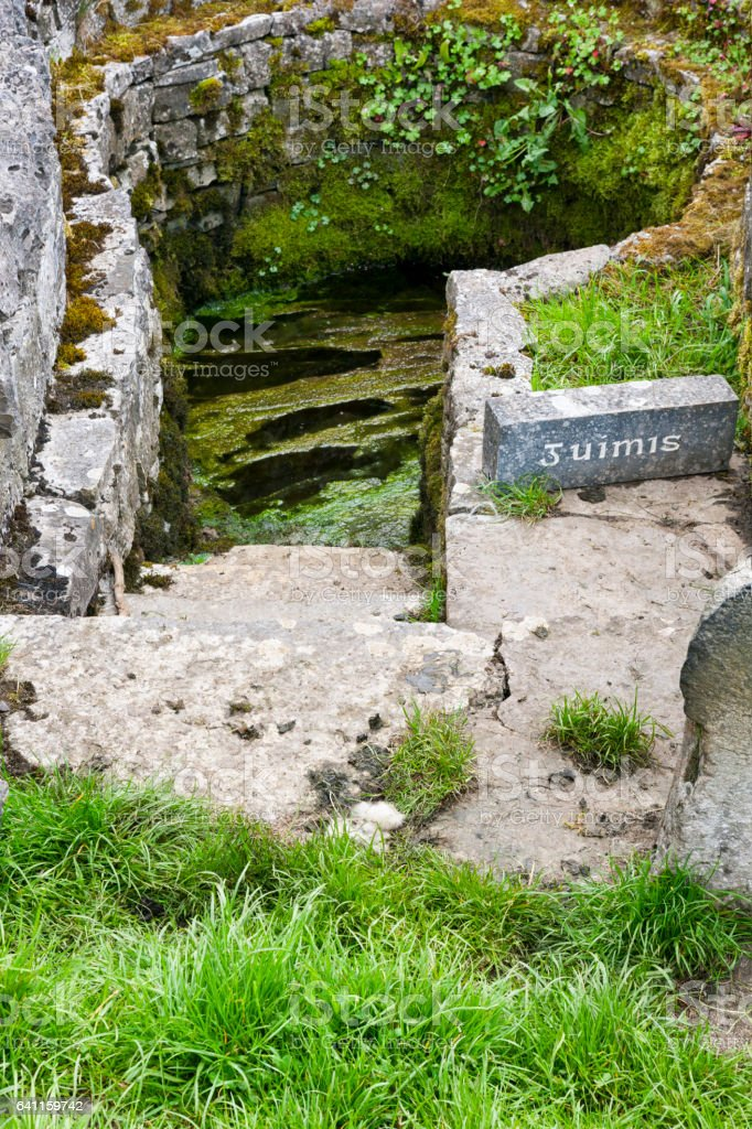 Well of Saint Patrick at Ballintubber Abbey in County Mayo, Ireland. stock photo