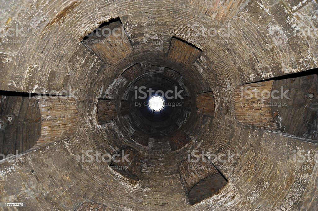Well of Saint Patrick from below royalty-free stock photo