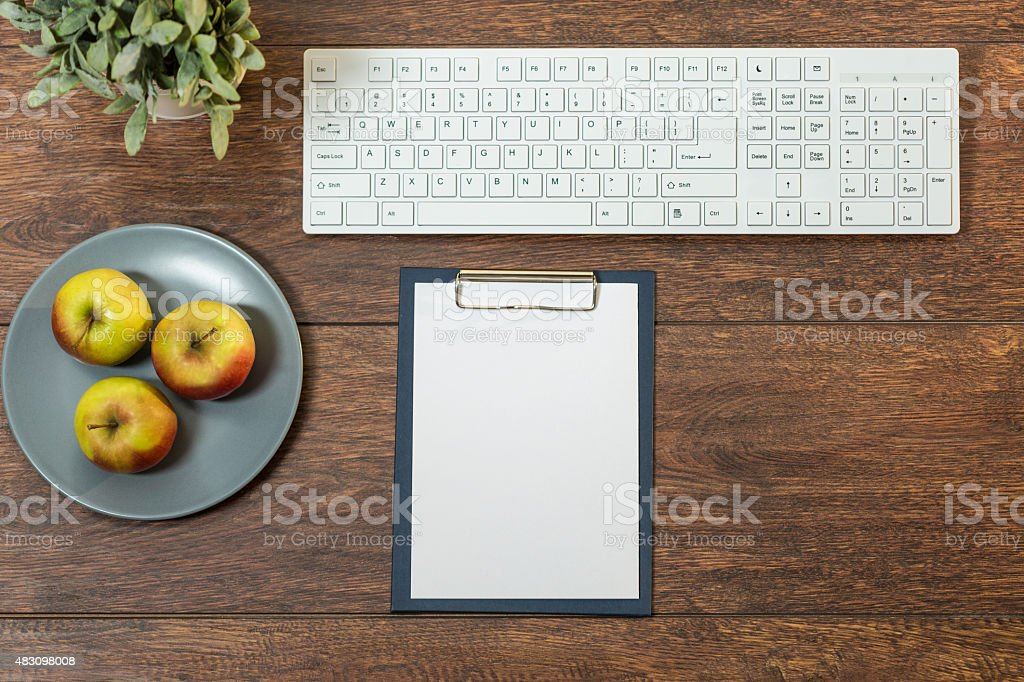 Well organized desk stock photo