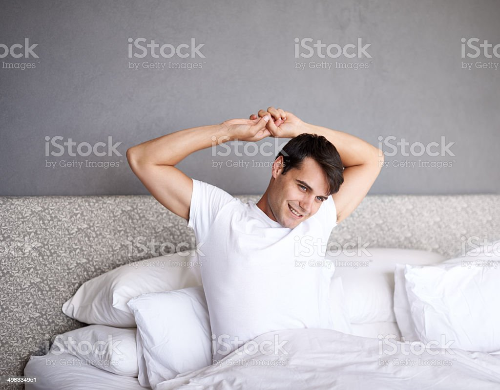 Well rested stock photo
