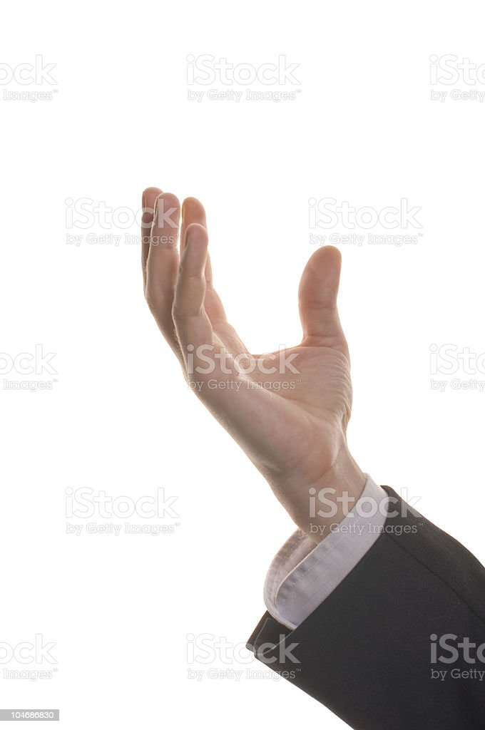 well shaped businessman hand reaching for something royalty-free stock photo