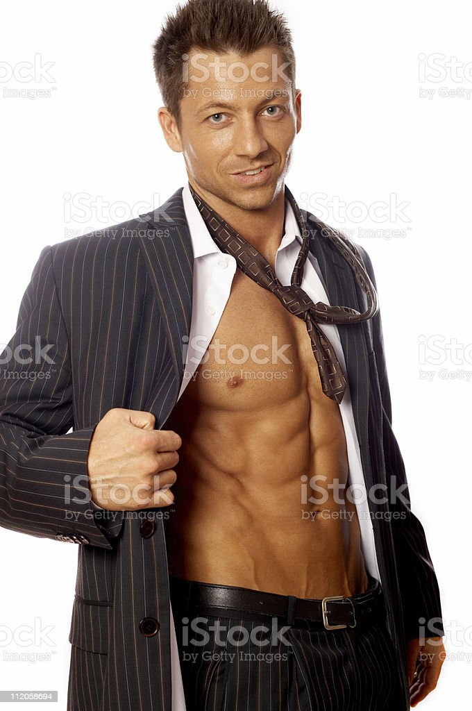 Well Shaped Businessman royalty-free stock photo