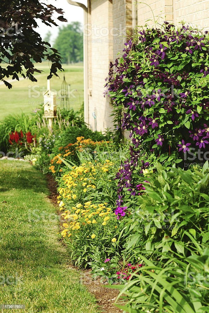 Well Tended Garden and Landscaping royalty-free stock photo