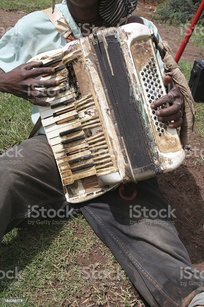 Well Used Accordion royalty-free stock photo