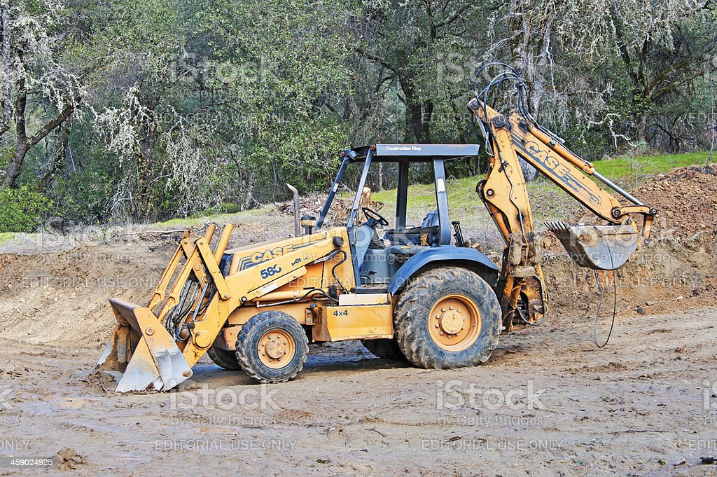 Well used Backhoe royalty-free stock photo
