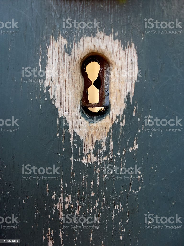 well used old keyhole royalty-free stock photo