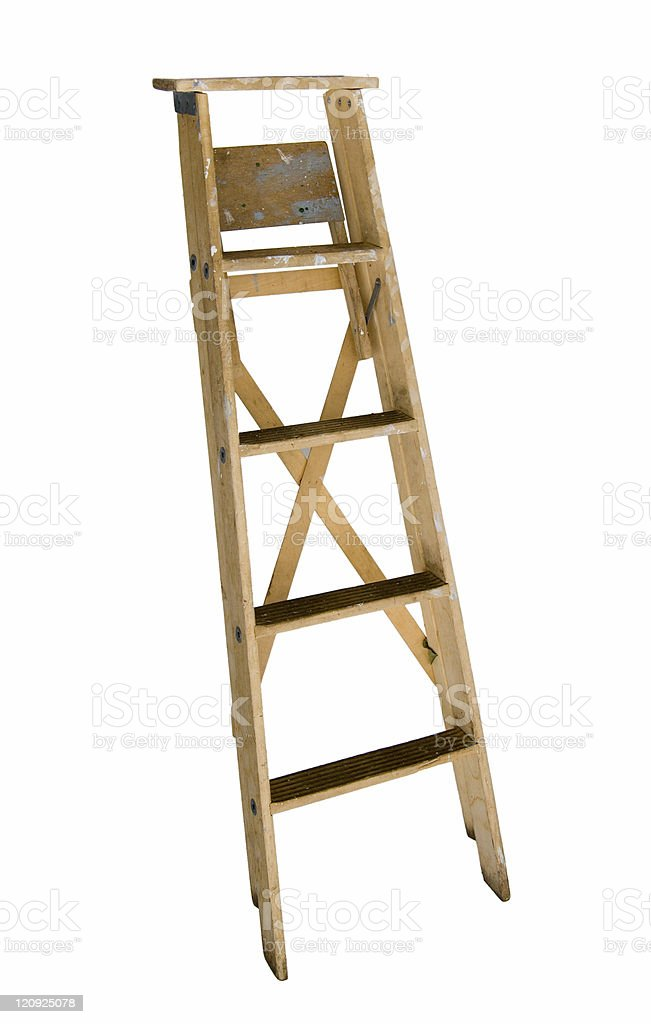 Well Used  Wood ladder royalty-free stock photo