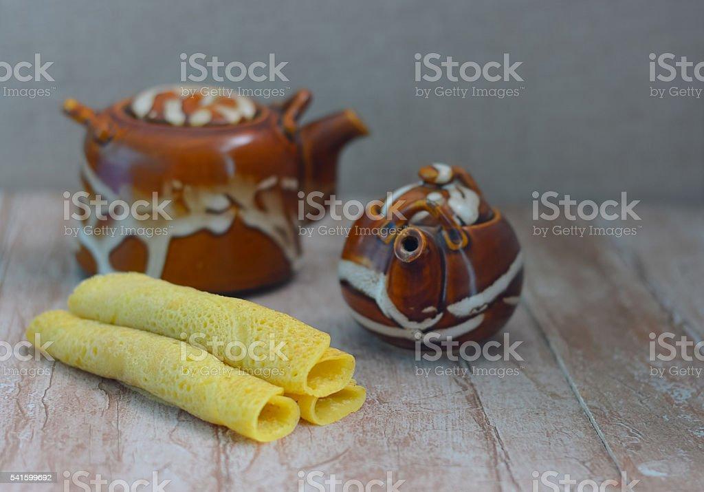 Wellawahum, The Sri Lankan Styled Pancake stock photo