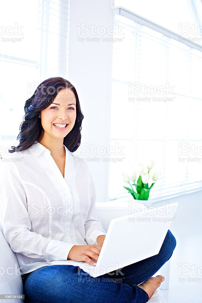 wellbeing  student  working at home royalty-free stock photo
