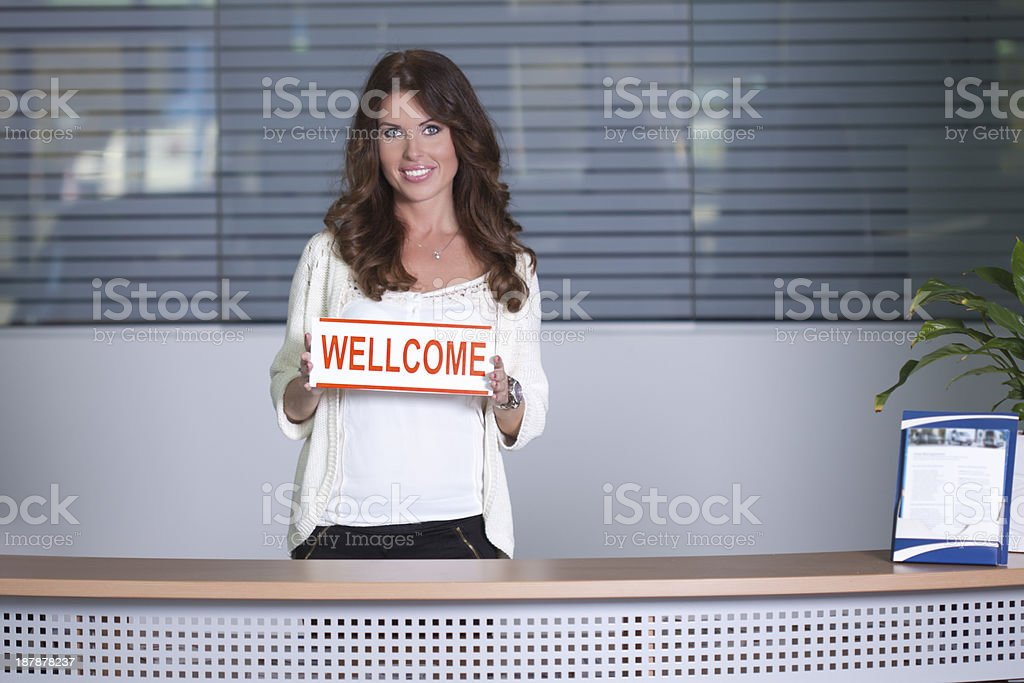 Wellcome royalty-free stock photo