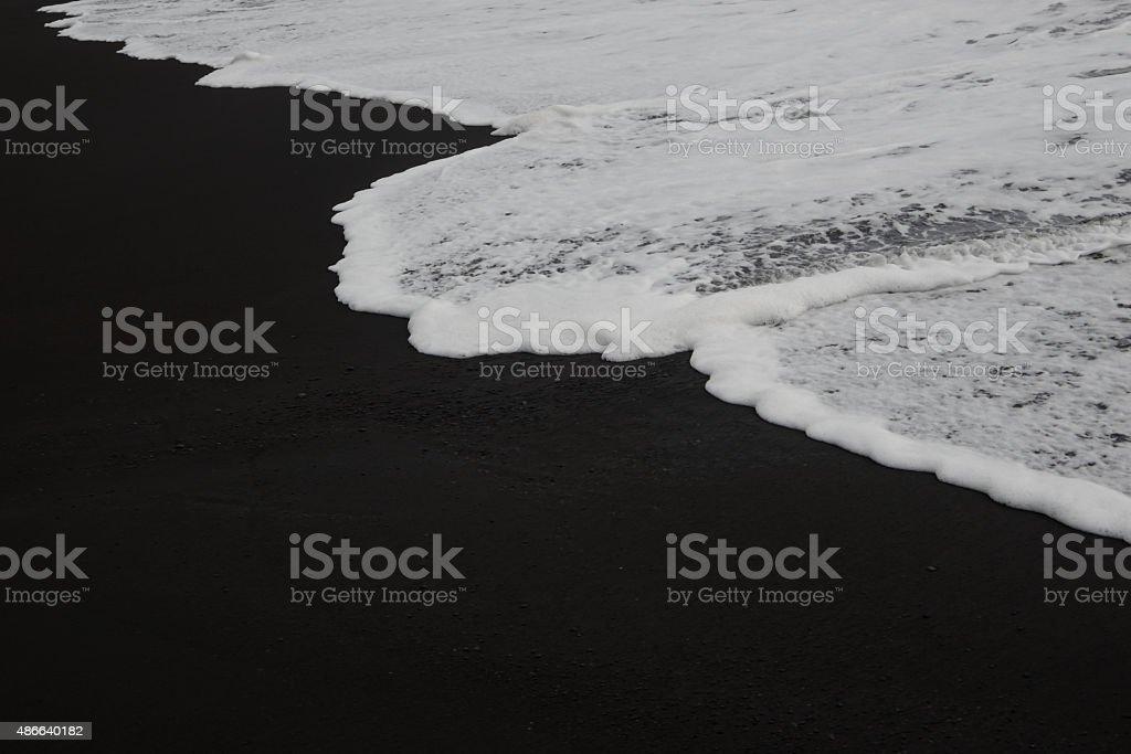 Wellen am Strand stock photo
