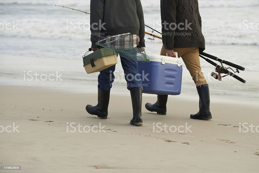 Well-equipped for some fishing stock photo