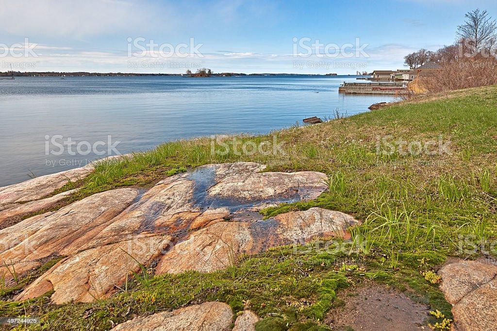 Wellesley Island Coastal Scenery - HDR stock photo