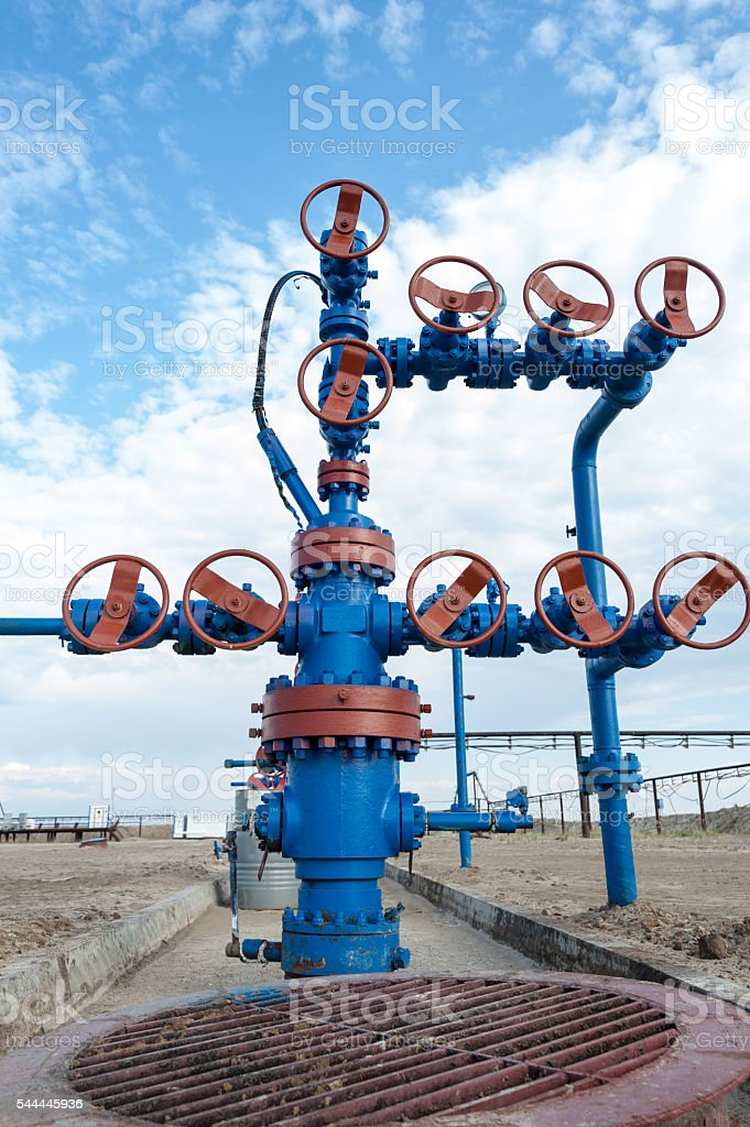 Wellhead. Concept oil and gas industry. stock photo