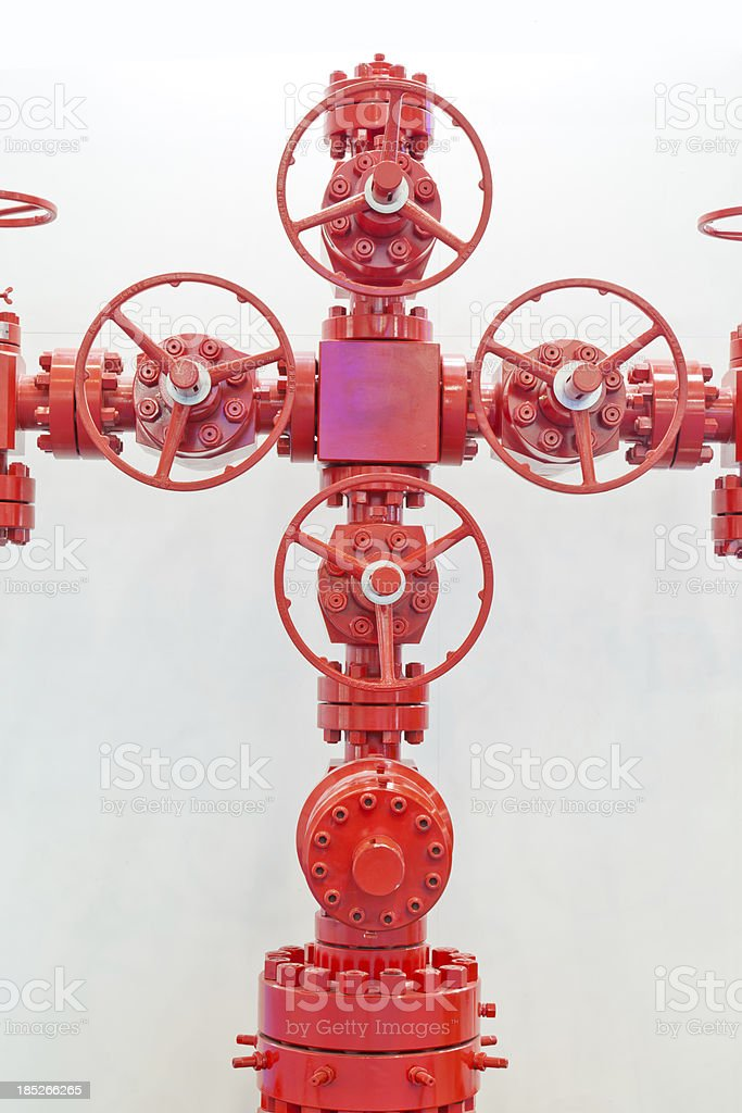 wellhead control device of the oil industry, isolated stock photo