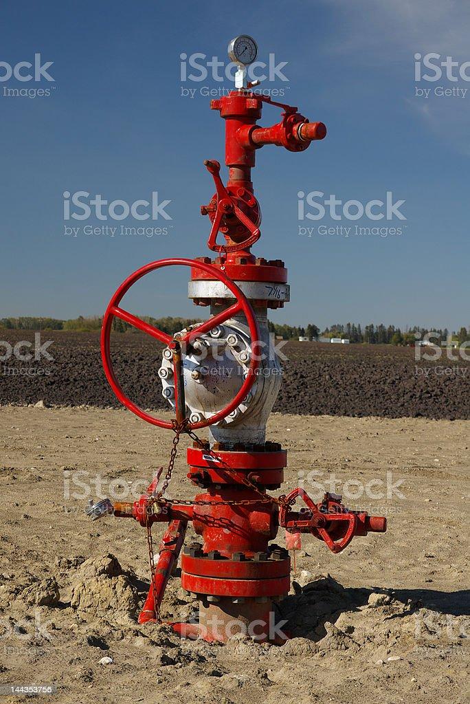 Wellhead stock photo