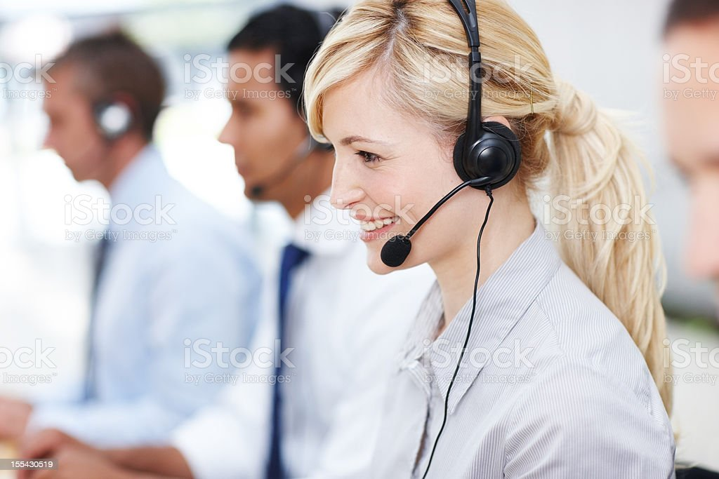 Well-informed staff ready to help royalty-free stock photo