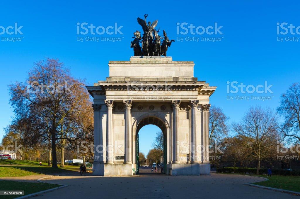 Wellington Arch stock photo