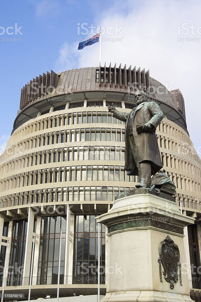 Wellington - Beehive (New Zealand Parliament) royalty-free stock photo