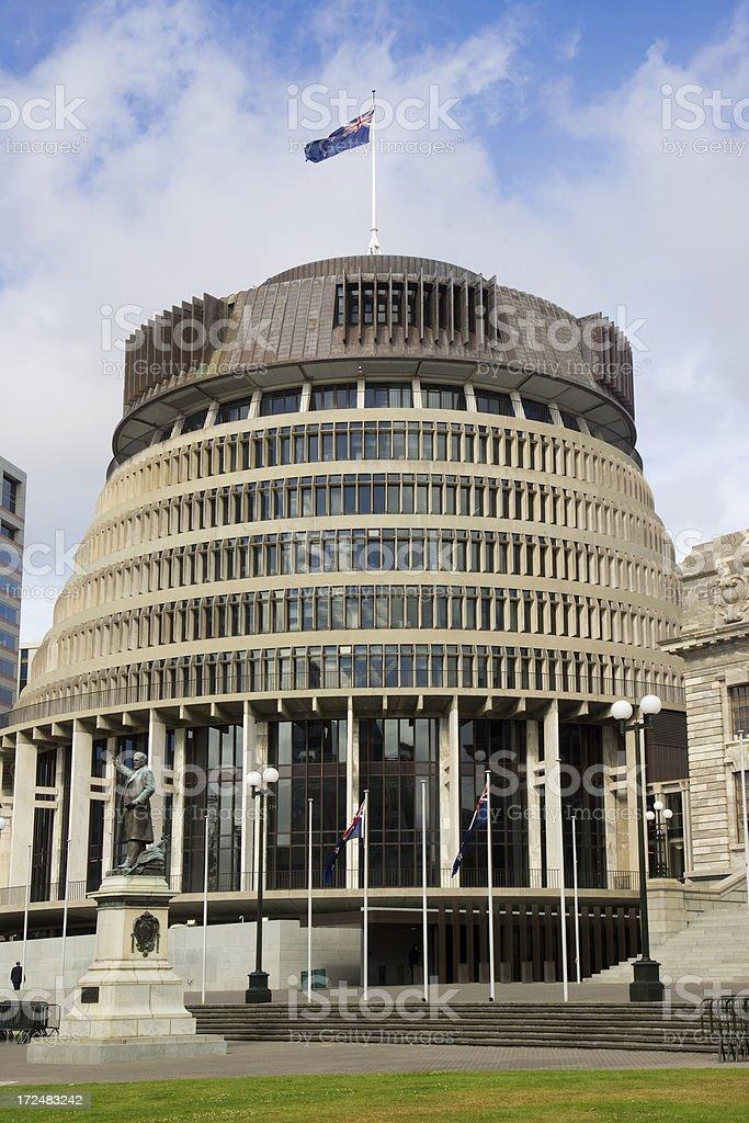 Wellington - Beehive (New Zealand Parliament) royalty-free stock photo