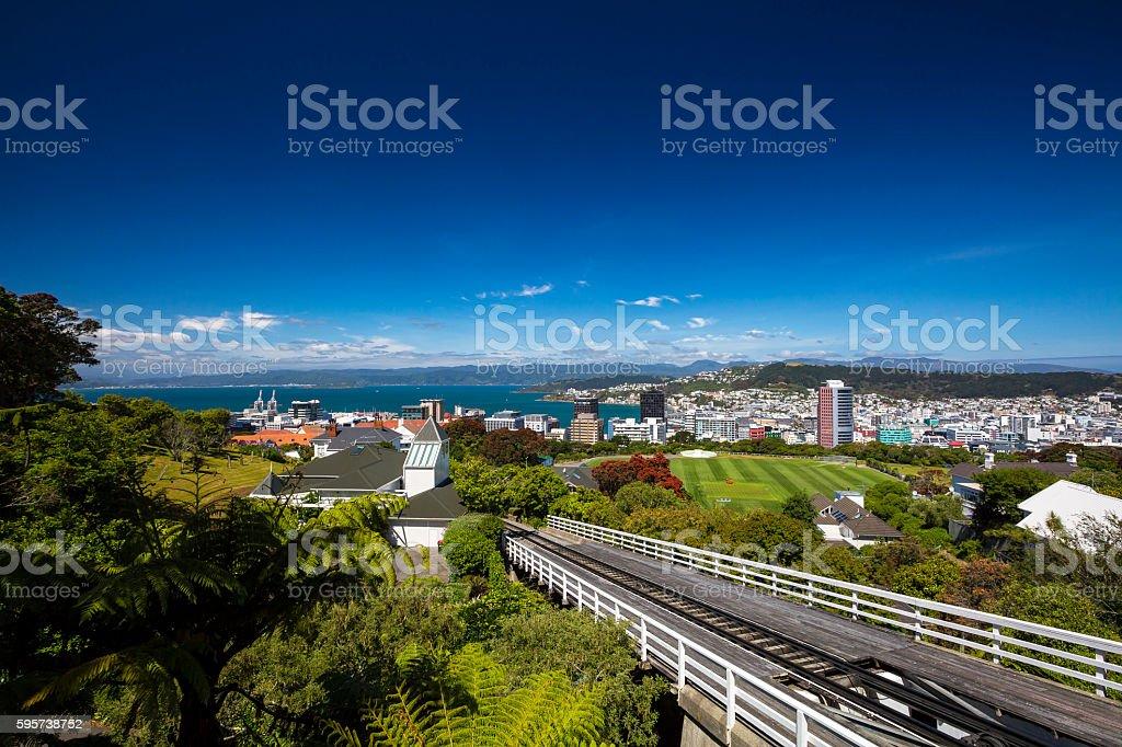 Wellington City stock photo