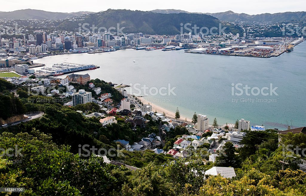 Wellington Cityscape stock photo