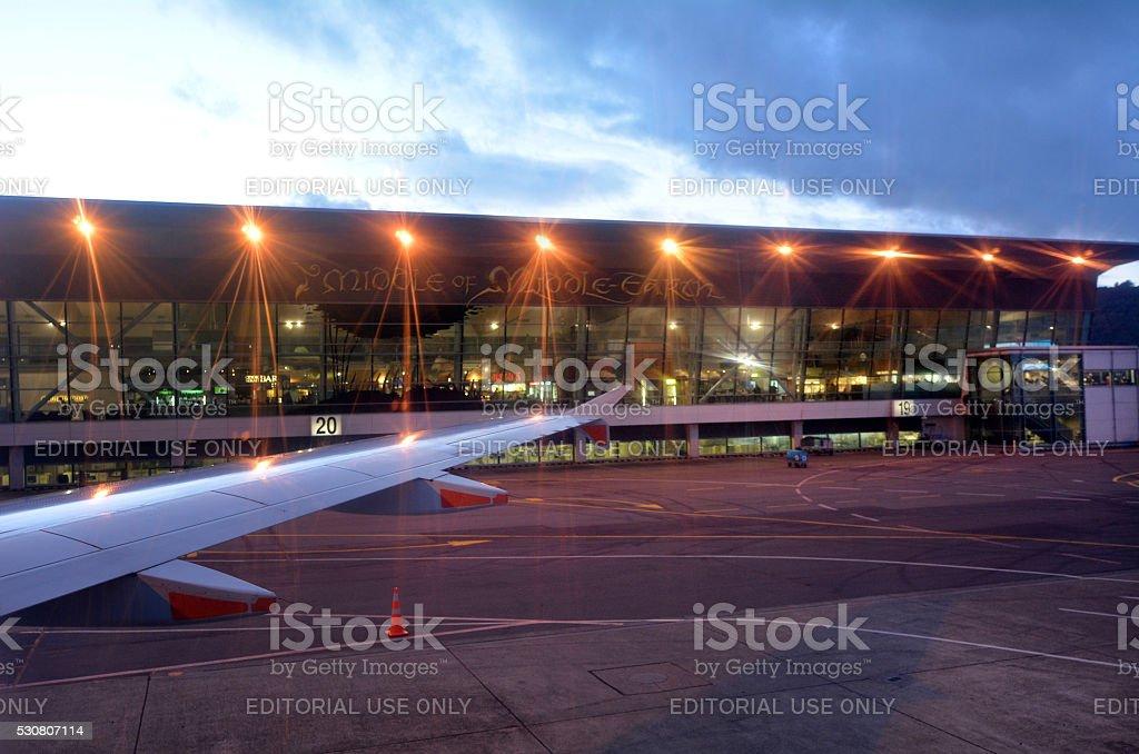 Wellington International Airport  - New Zealand stock photo