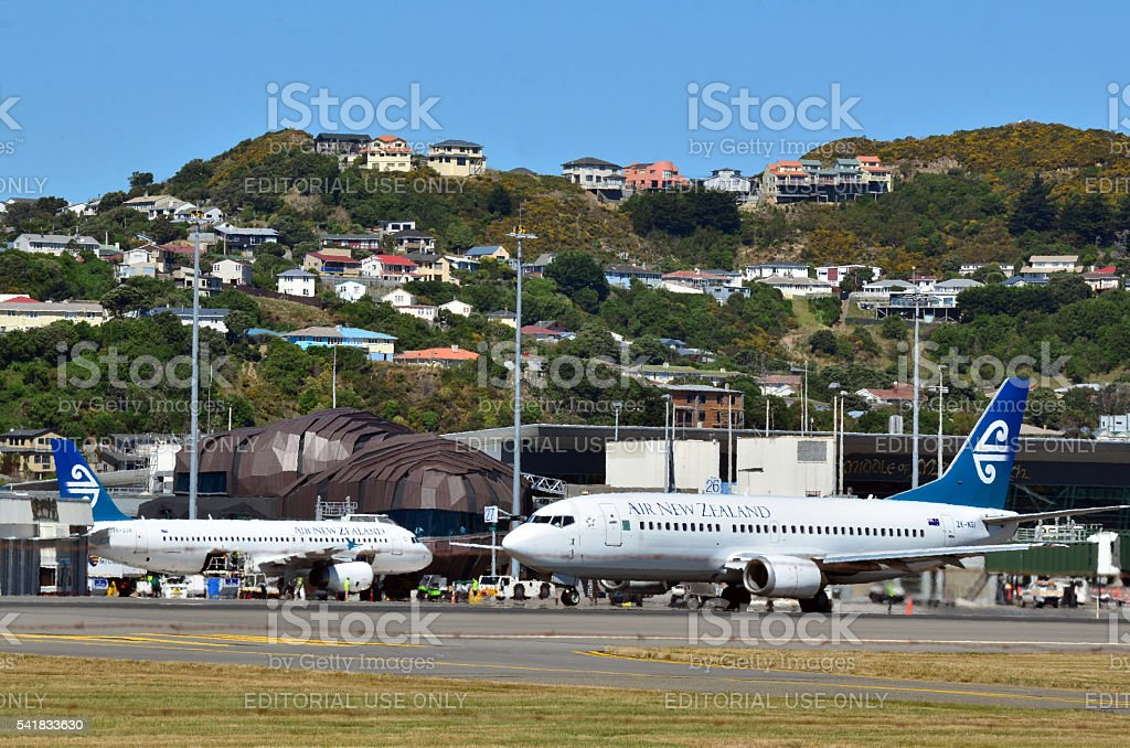 Wellington International Airport stock photo