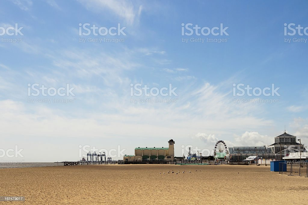Wellington Pier and Winter Gardens at Great Yarmouth royalty-free stock photo
