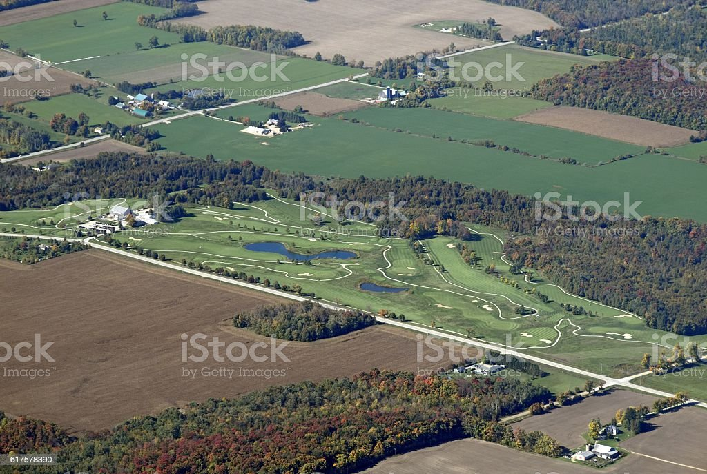 Wellinton Golf Course, aerial stock photo