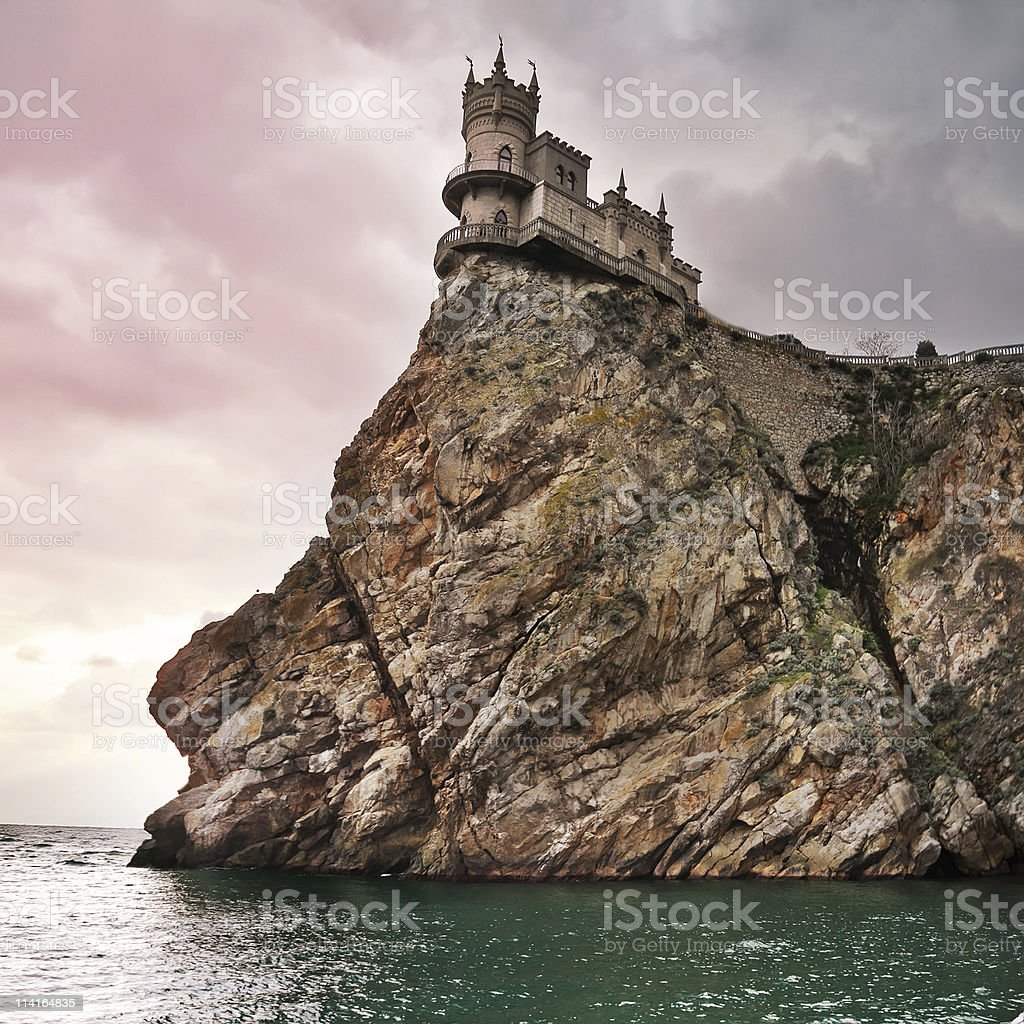 well-known castle Swallow's Nest stock photo