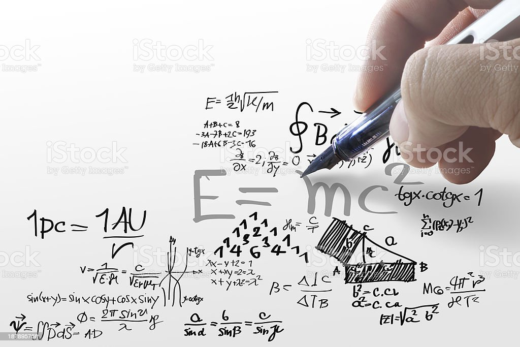 Well-known physical formula royalty-free stock photo