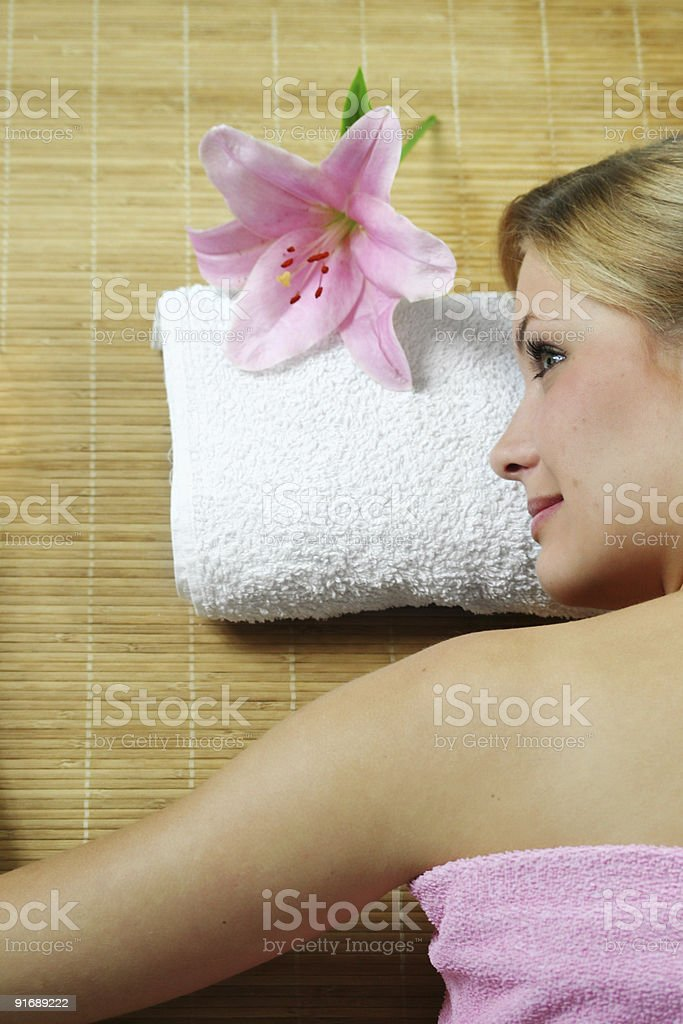 wellness and beauty portrait of a woman stock photo
