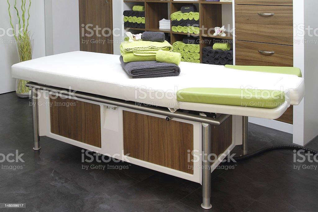 wellness - massage bench stock photo