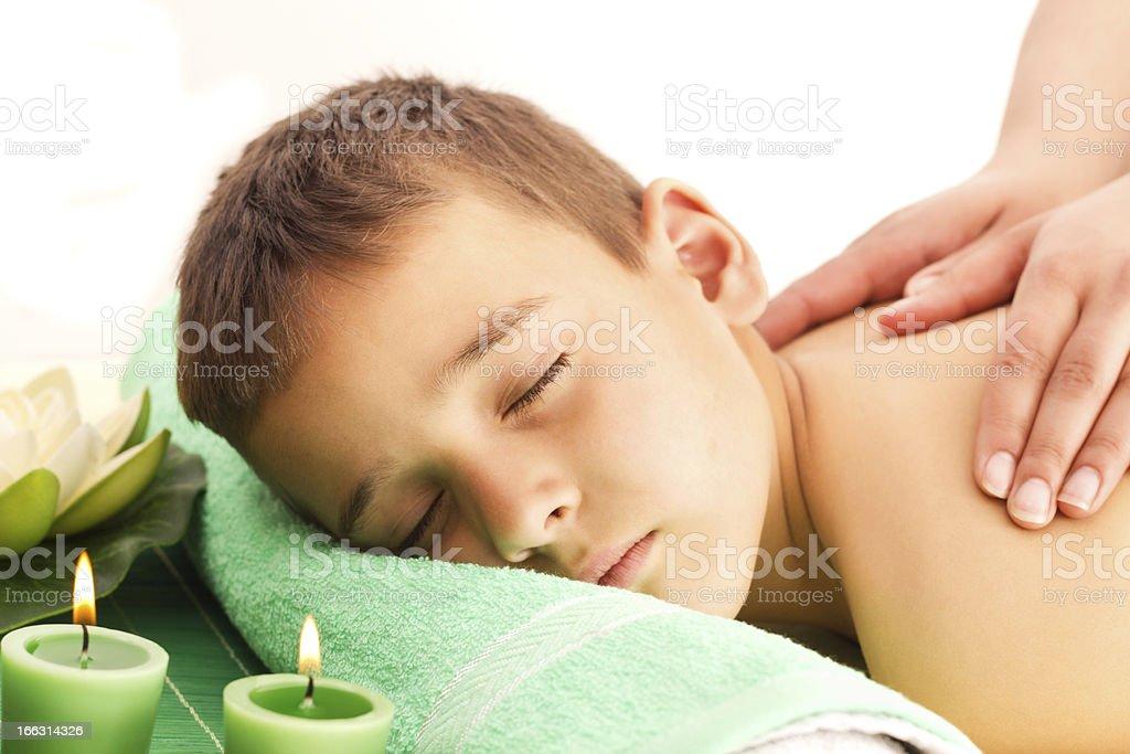 Wellness Massage royalty-free stock photo