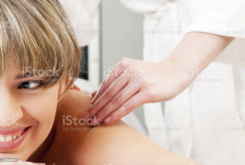 Wellness Massage stock photo