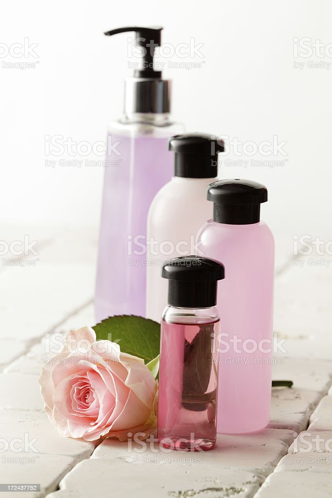 Wellness: Pink Spa Theme royalty-free stock photo