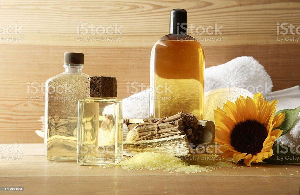Wellness: Sauna Body Products stock photo