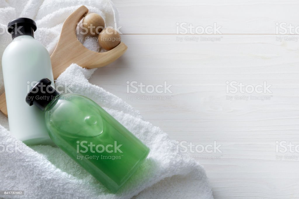 Wellness: Spa Products Still Life stock photo