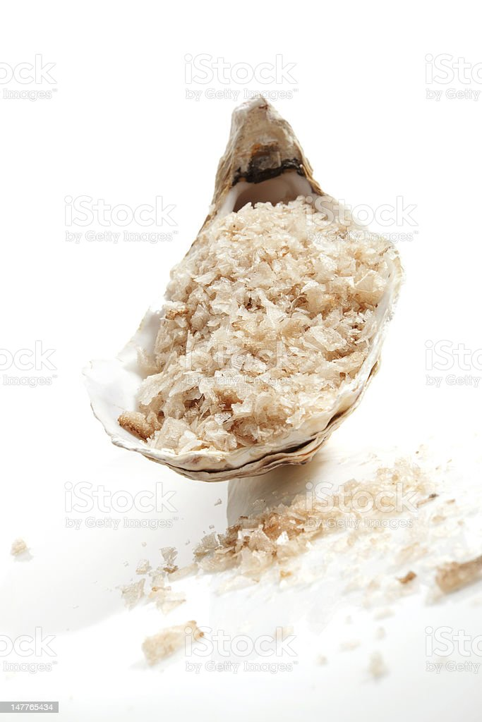 Wellness spa sea salt. stock photo