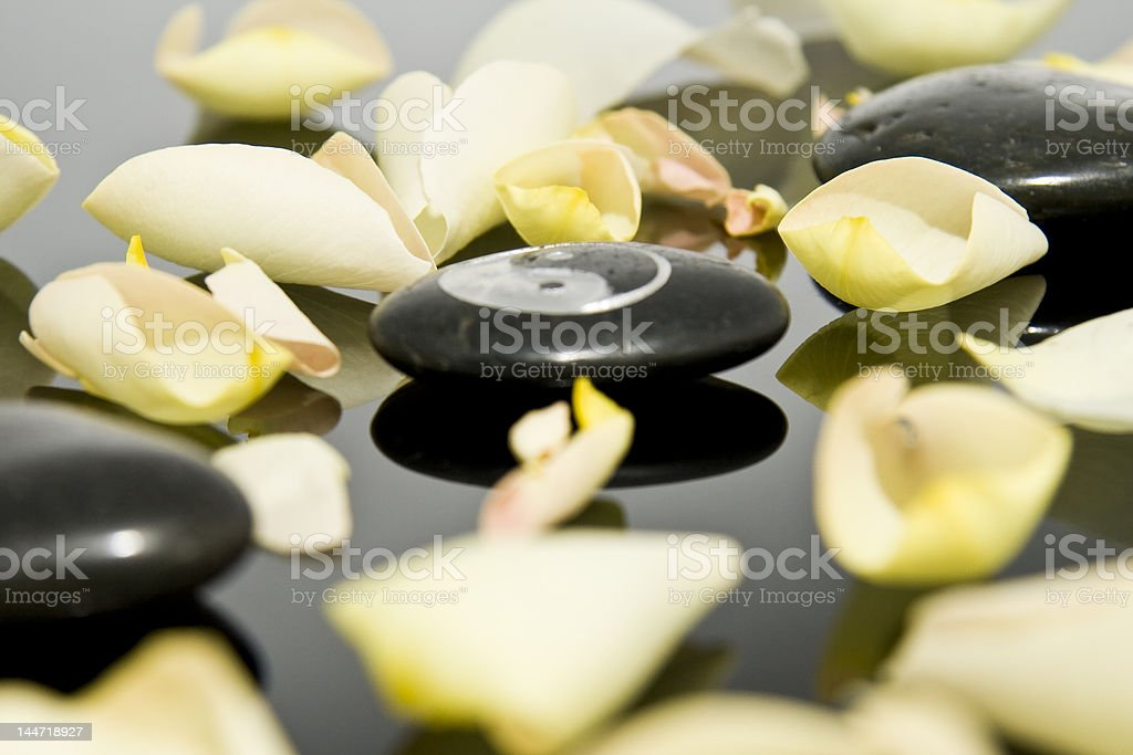 Wellness stones royalty-free stock photo