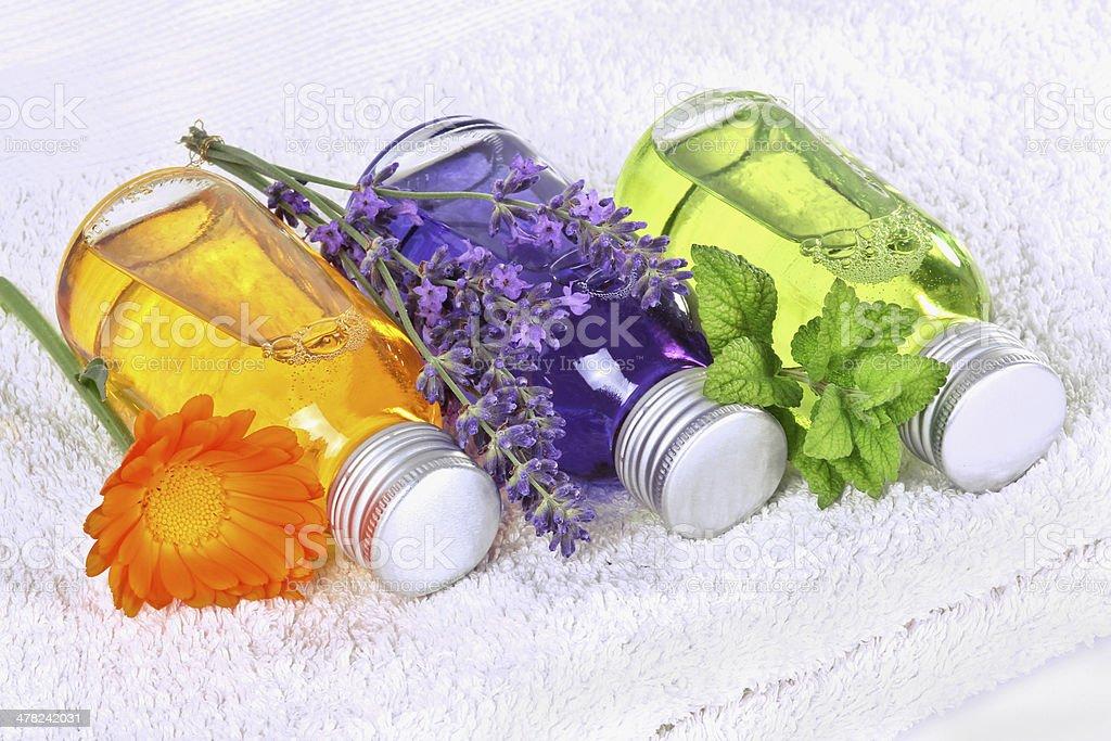 Wellness with homöopathie stock photo