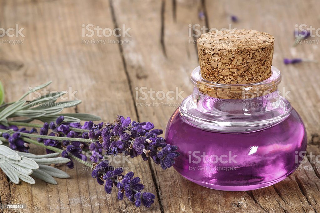 Wellness with lavender stock photo