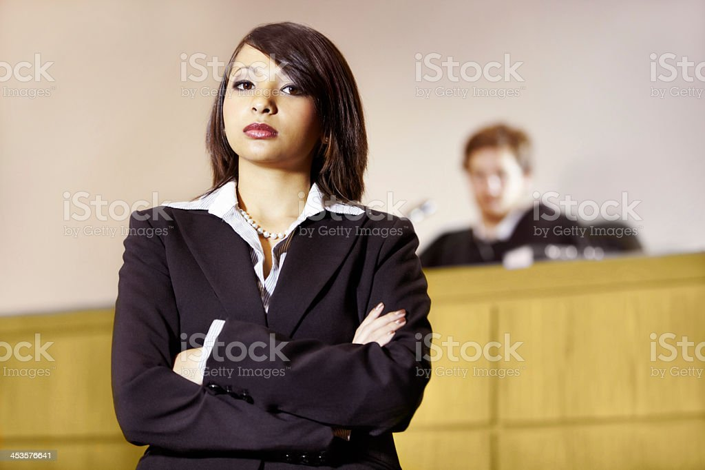 Well-qualified to win in court stock photo