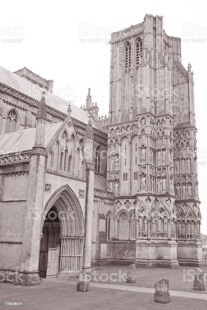Wells Cathedral Church royalty-free stock photo