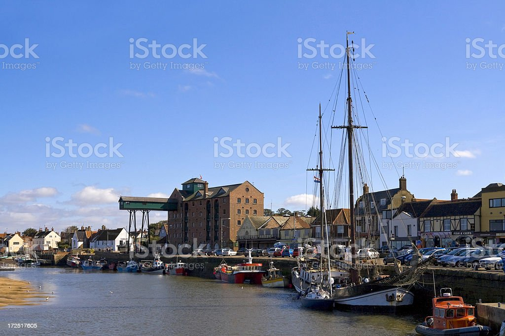 Wells harbour royalty-free stock photo