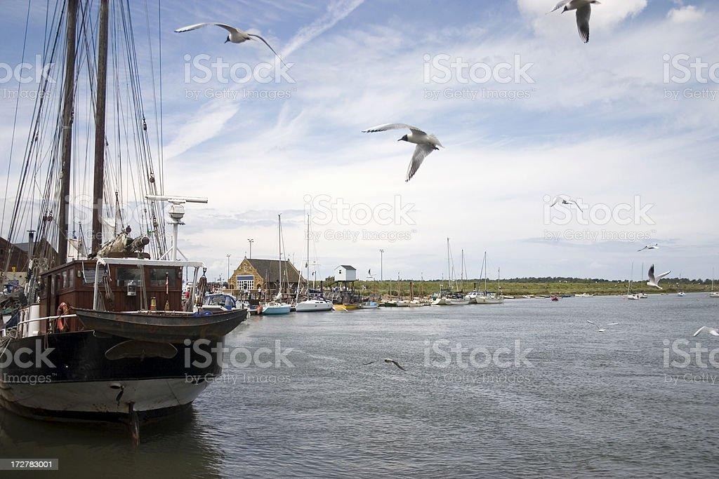 Wells Norfolk Coast royalty-free stock photo
